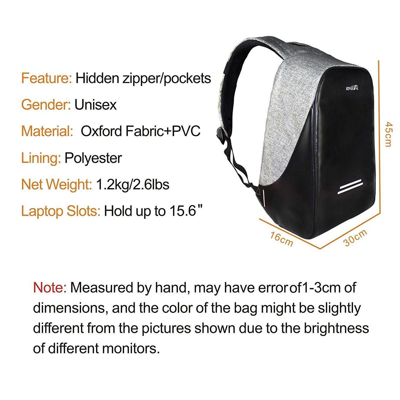 amazon com joyelife anti theft backpack bag lightweight travel