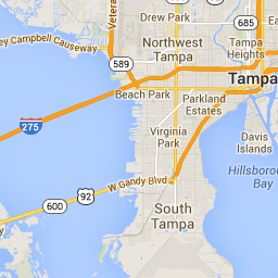 Tampa International Airport to Sea Chest Motel - Google Maps ...