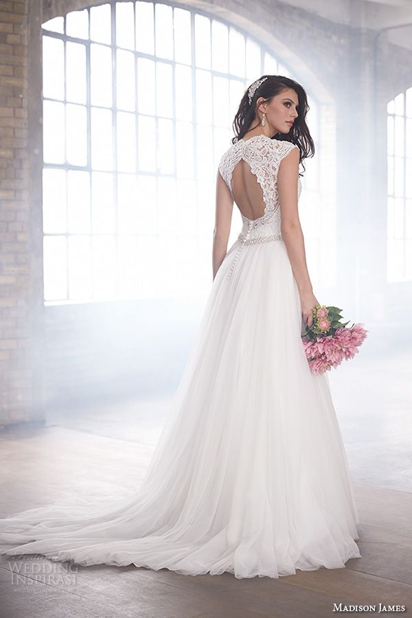 madison james fall 2015 bridal lace queens anne cap sleeves v neckline lace  embroidered bodice beautiful a line wedding dress style mj172 a03af7d824dd