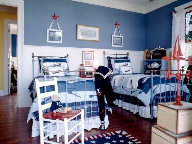 bedroom patriotic boys bedroom for two 33 wonderful shared kids room ideas - Decorate Boy Room
