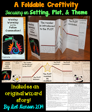 Plot Setting Theme Foldable Craftivity With Story Teaching