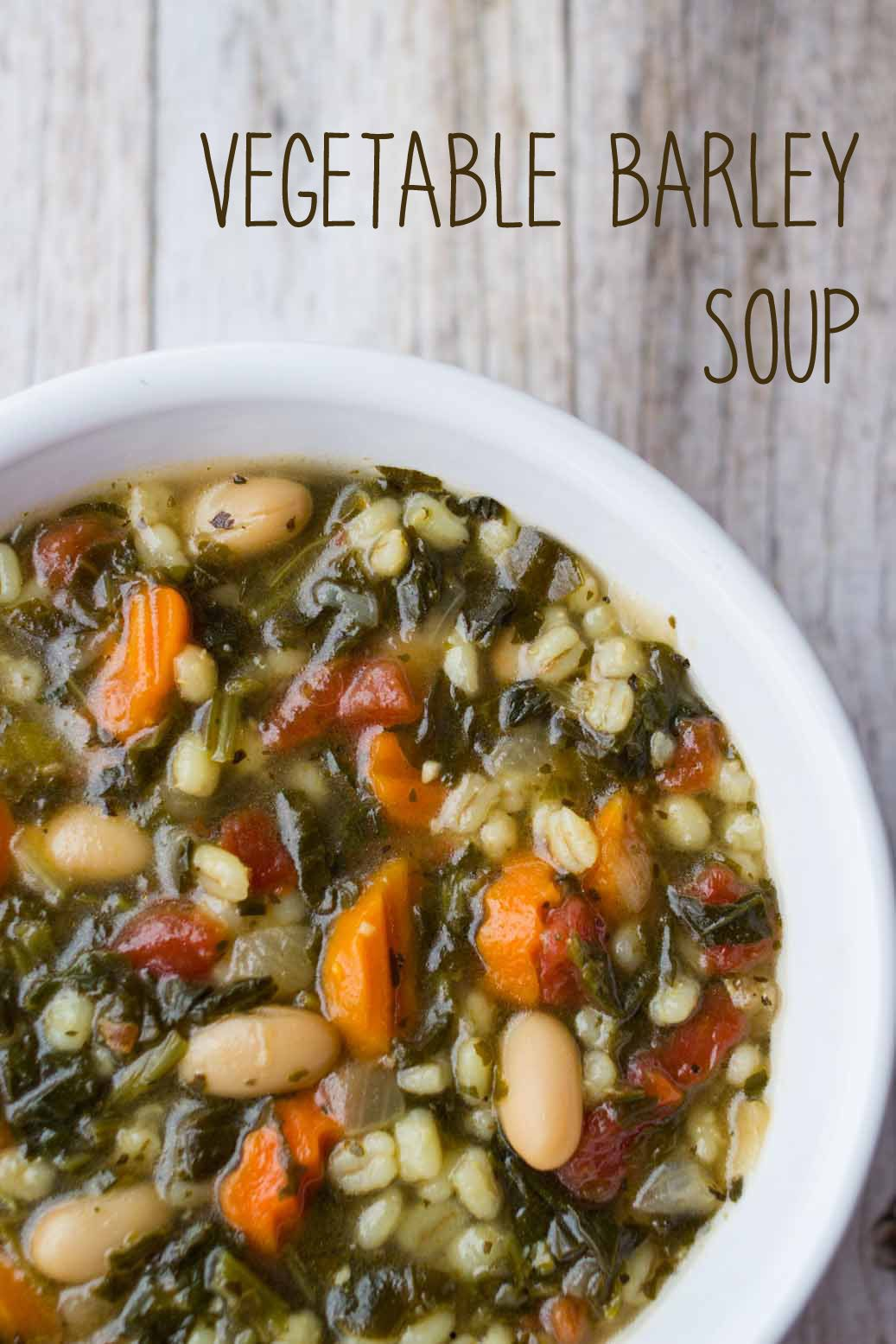 Vegetable Barley Soup Vegetable barley soup, Vegetarian
