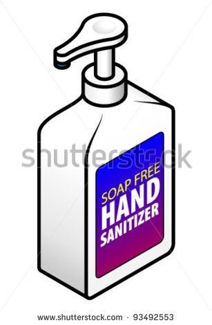 A Pump Pack Soap Free Hand Sanitizer Stock Vector Hand