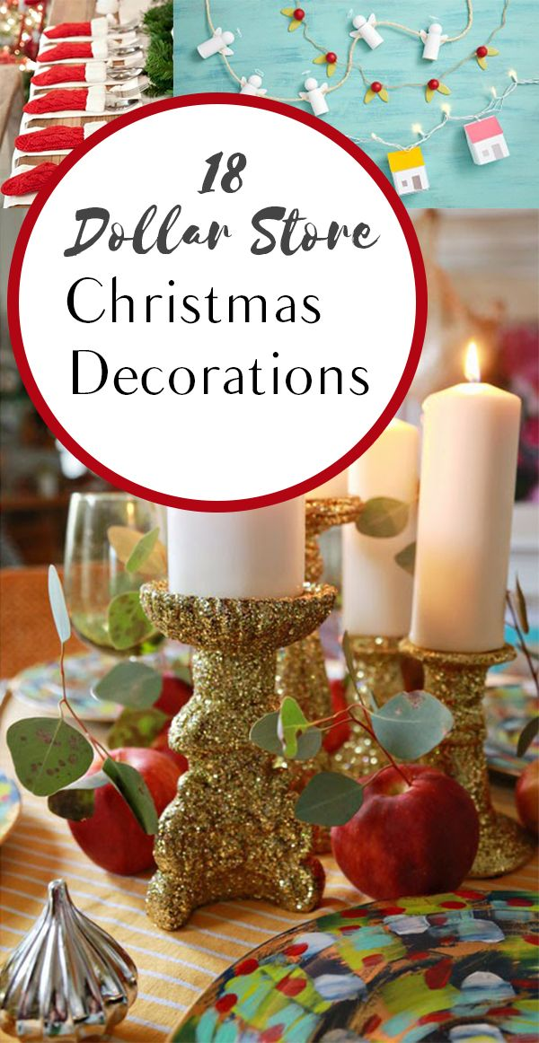 18 Dollar Store Christmas Decorations Cheapest holidays, Christmas