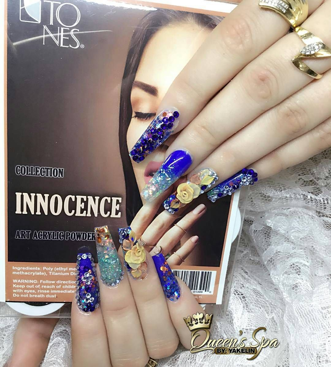 Amazing Nail Art Made Using Tones Products | Relieves De Flores 3D ...
