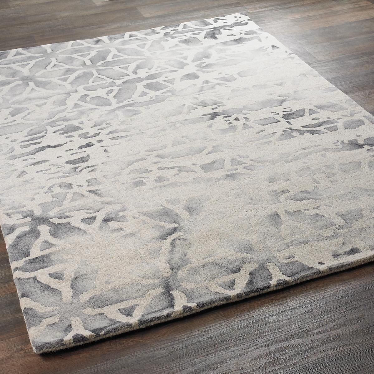 Contemporary Abstract Ocean Rug Organic Forms Like Water Over Sand Are The Defining Characteristic Of This Lush With Its Clever Spray Effect That Adds A