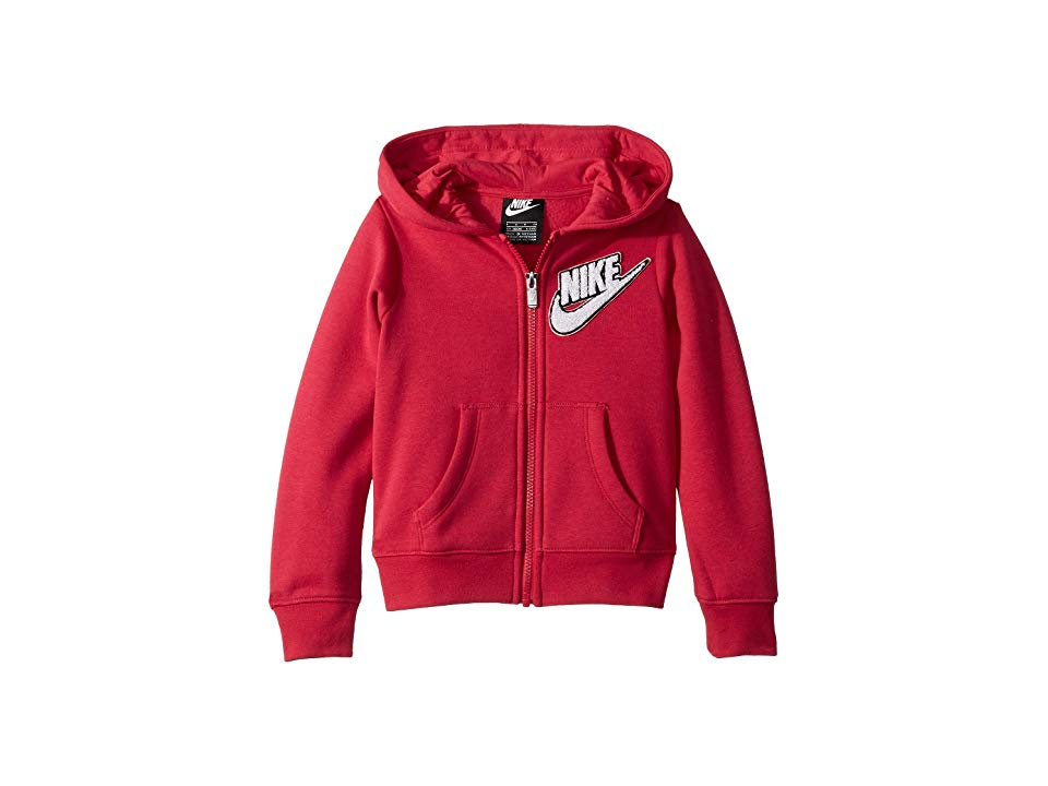 c9d799fa Nike Kids Fleece Lurex Hoodie (Little Kids) (Rush Pink) Girl's Sweatshirt.  While she's running along the playground keep her cozy in the dependable  Nike ...