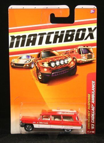 Matchbox 2010 1963 Cadillac Ambulance Emergency Response Series 55 of 100