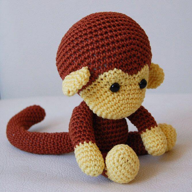 Amigurumi Crochet Monkey Pattern Johnny The Monkey Softie
