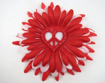 Heart Flower Hair Bow