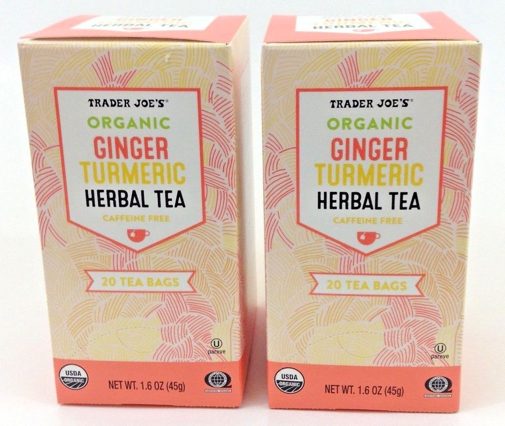 Trader Joes Tea Organic Ginger Turmeric Herbal Caffeine