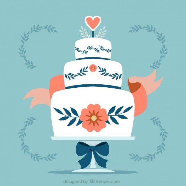 Free Vector Floral Wedding Cake 30308 Jyhgfkufhj Pinterest