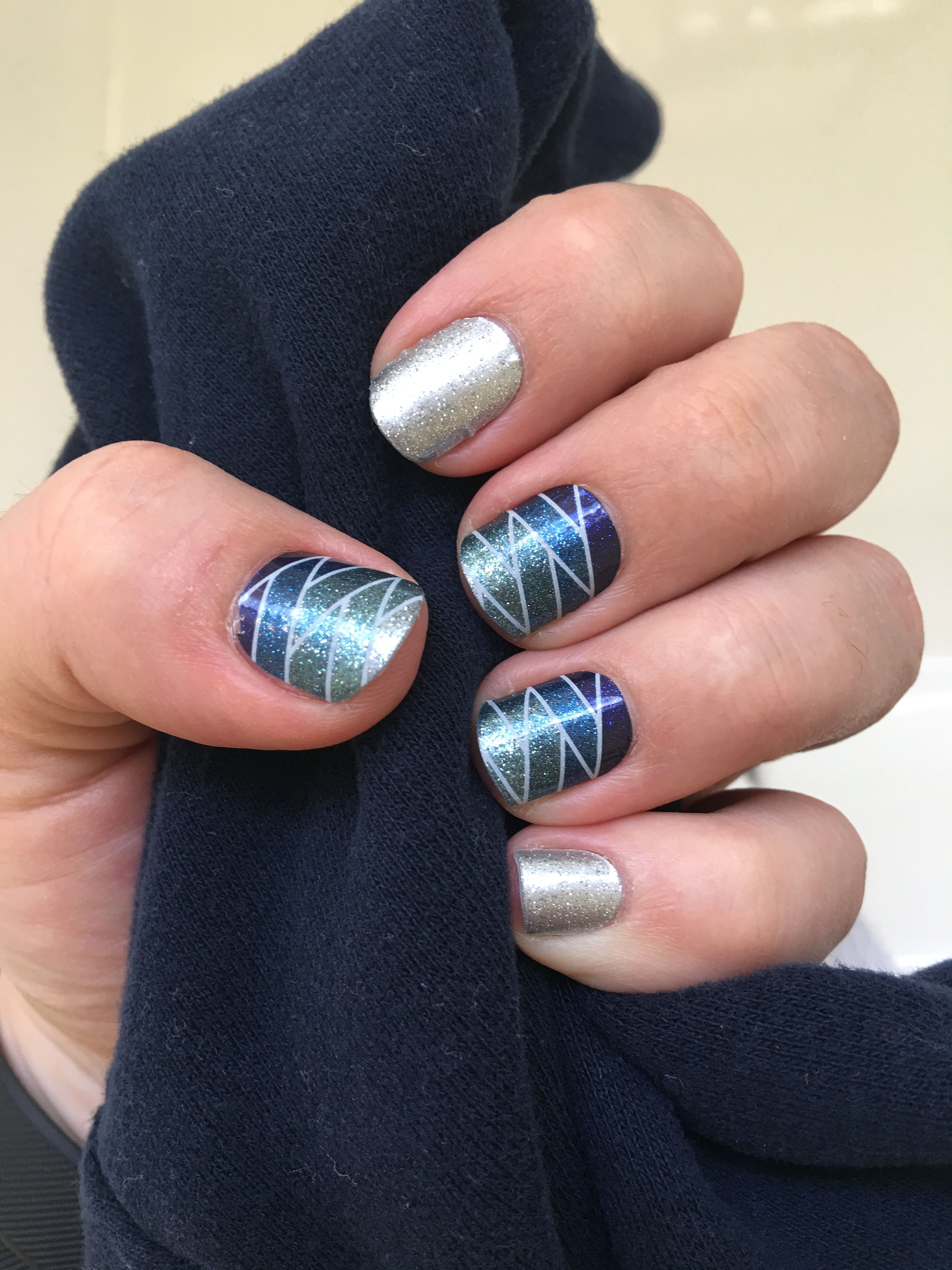 Jamberry Seaside Sparkle and Diamond Dust | Nail Art | Pinterest ...