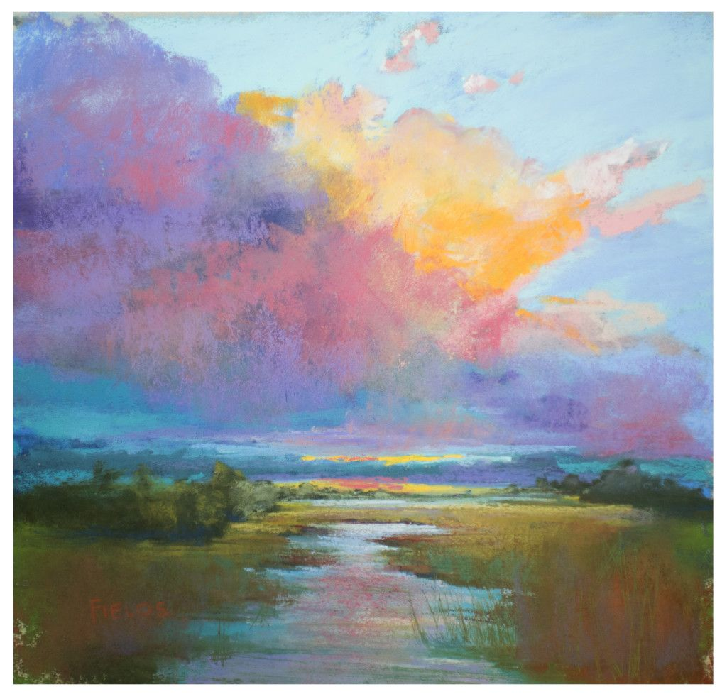 The Glory Original Pastel Painting By Bethany Fields Pastel Landscape Painting Abstract Art Painting