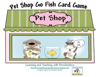 Pet shop free go fish card game help build children s for Fish and more pet store