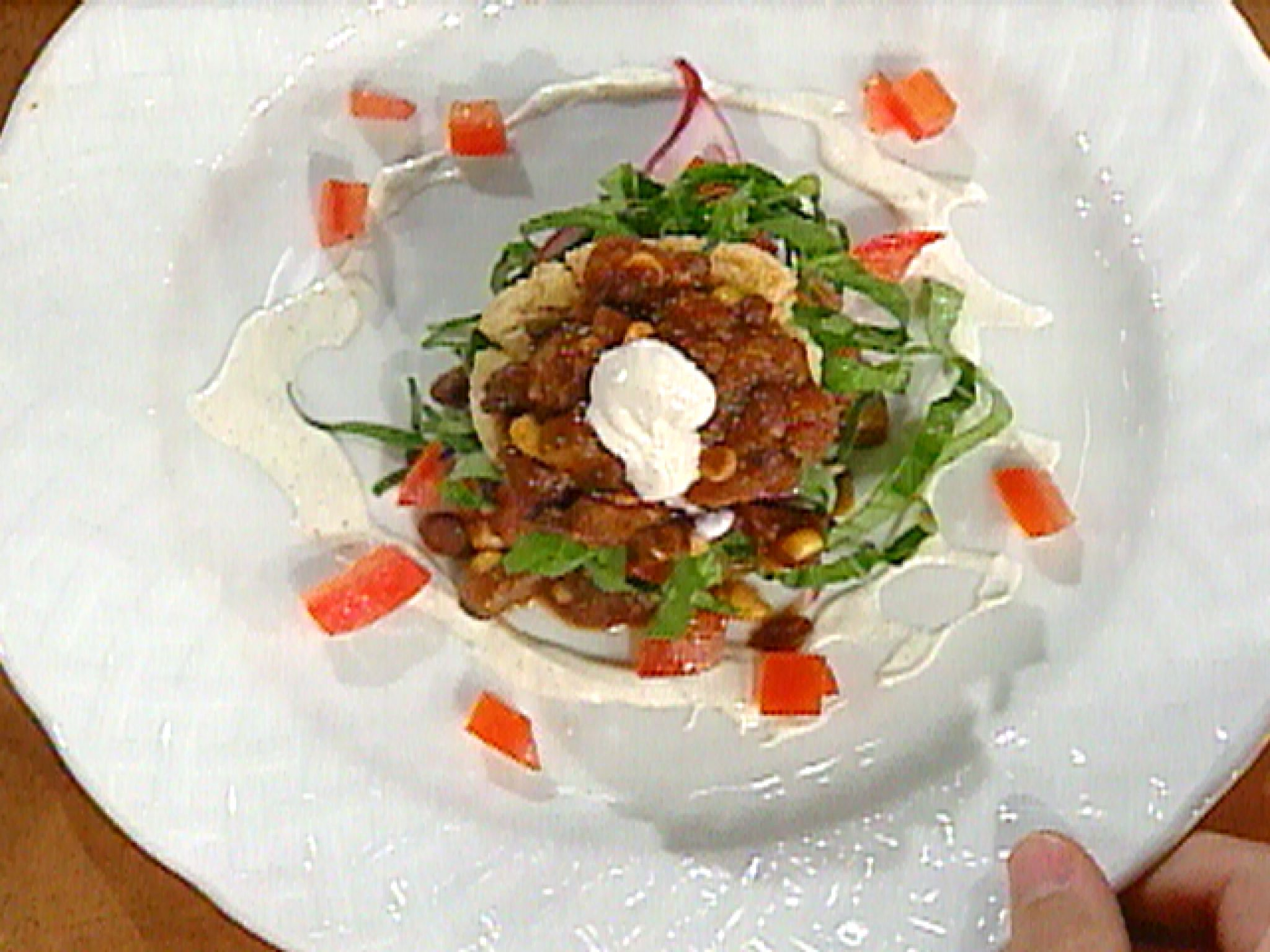 Vegetarian chili masa cake stacks recipe from emeril lagasse via recipes recipes for vegetariansvegetarian chiligood recipeschilefood networksalad forumfinder Image collections