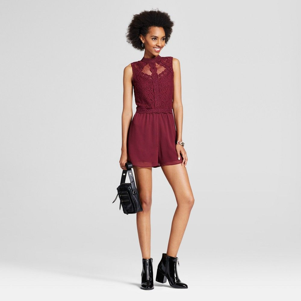 3160ec511a6 Women s Homecoming Romper - Xhilaration (Juniors ) Burgundy (Red) XL ...