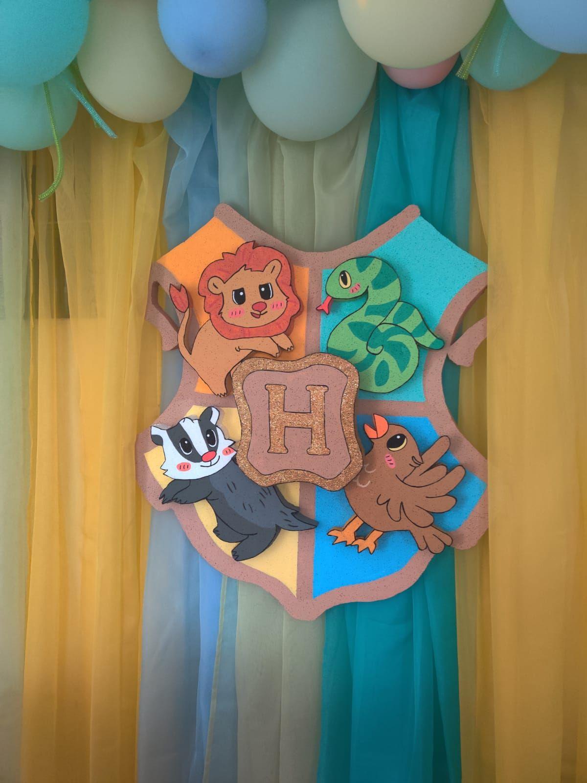 Diy foam hogwarts crest for baby boy harry potter birthday