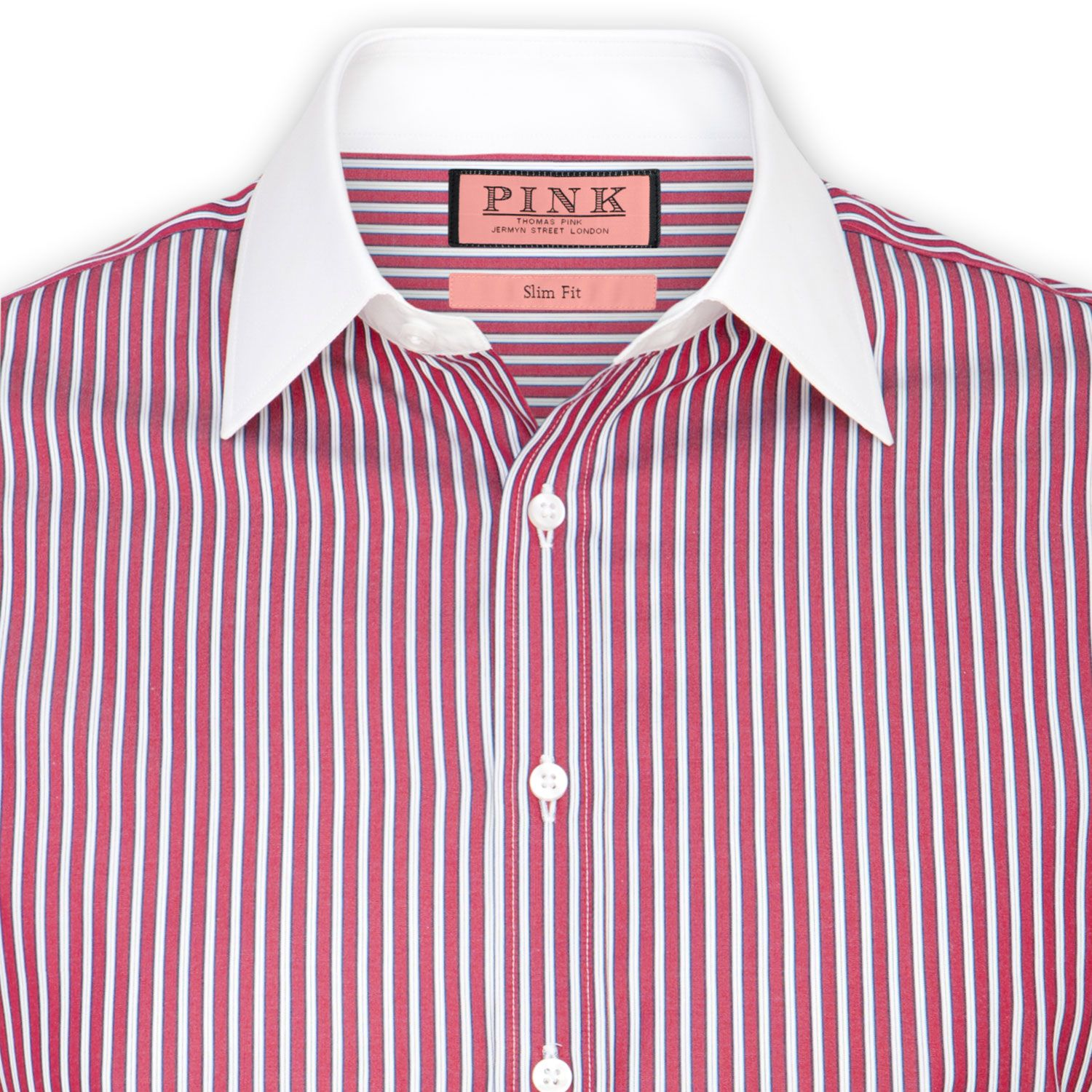 Blazers Longford: Andres Stripe Shirt - Button Cuff By Thomas Pink