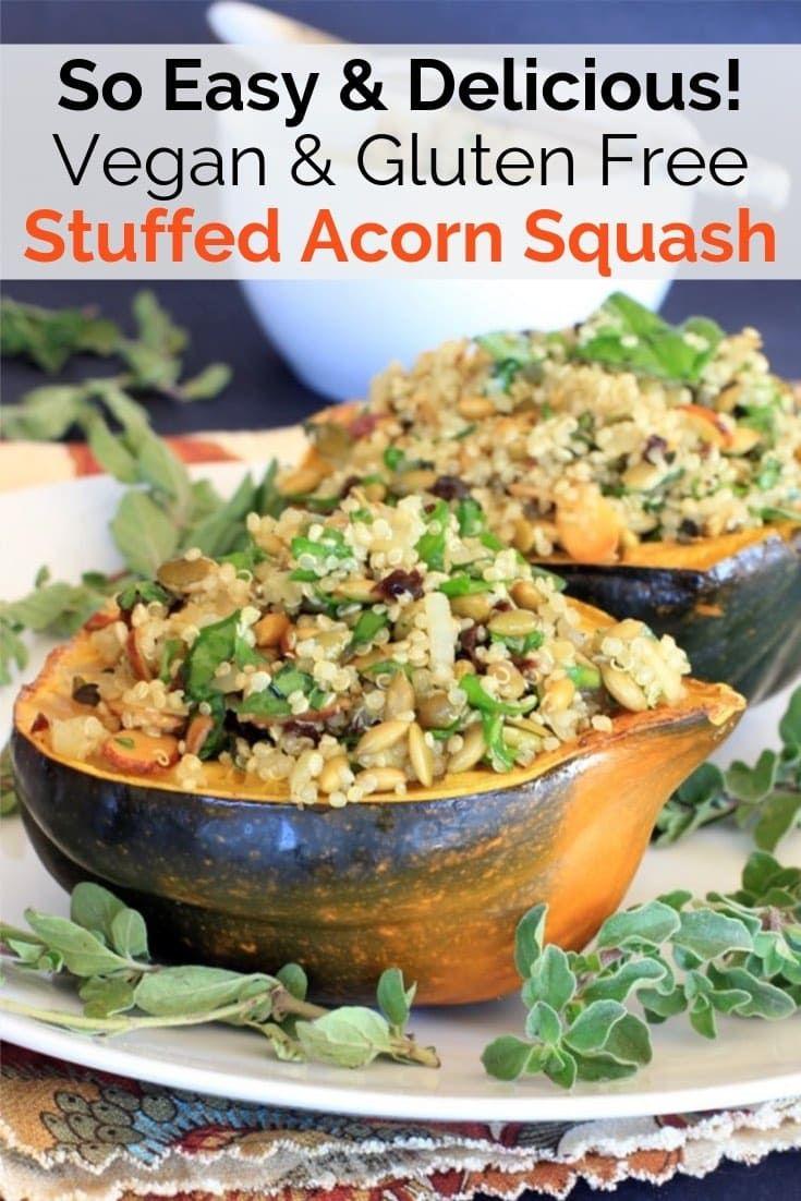 Stuffed Acorn Squash Recipe Pumpkin Seed Tart Cherry Quinoa Pilaf