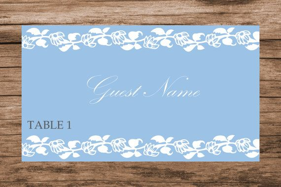 Download floral vines wedding place card by WeddingTemplatesHub