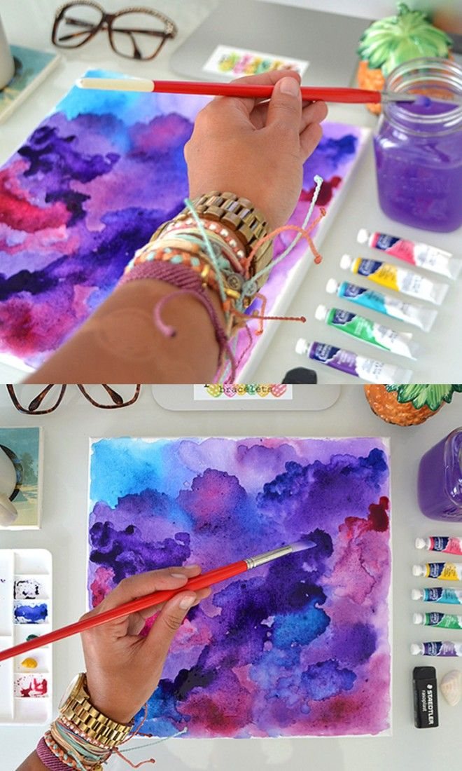 Diy Watercolor Wall Art Watercolor Art Diy Diy Arts Crafts