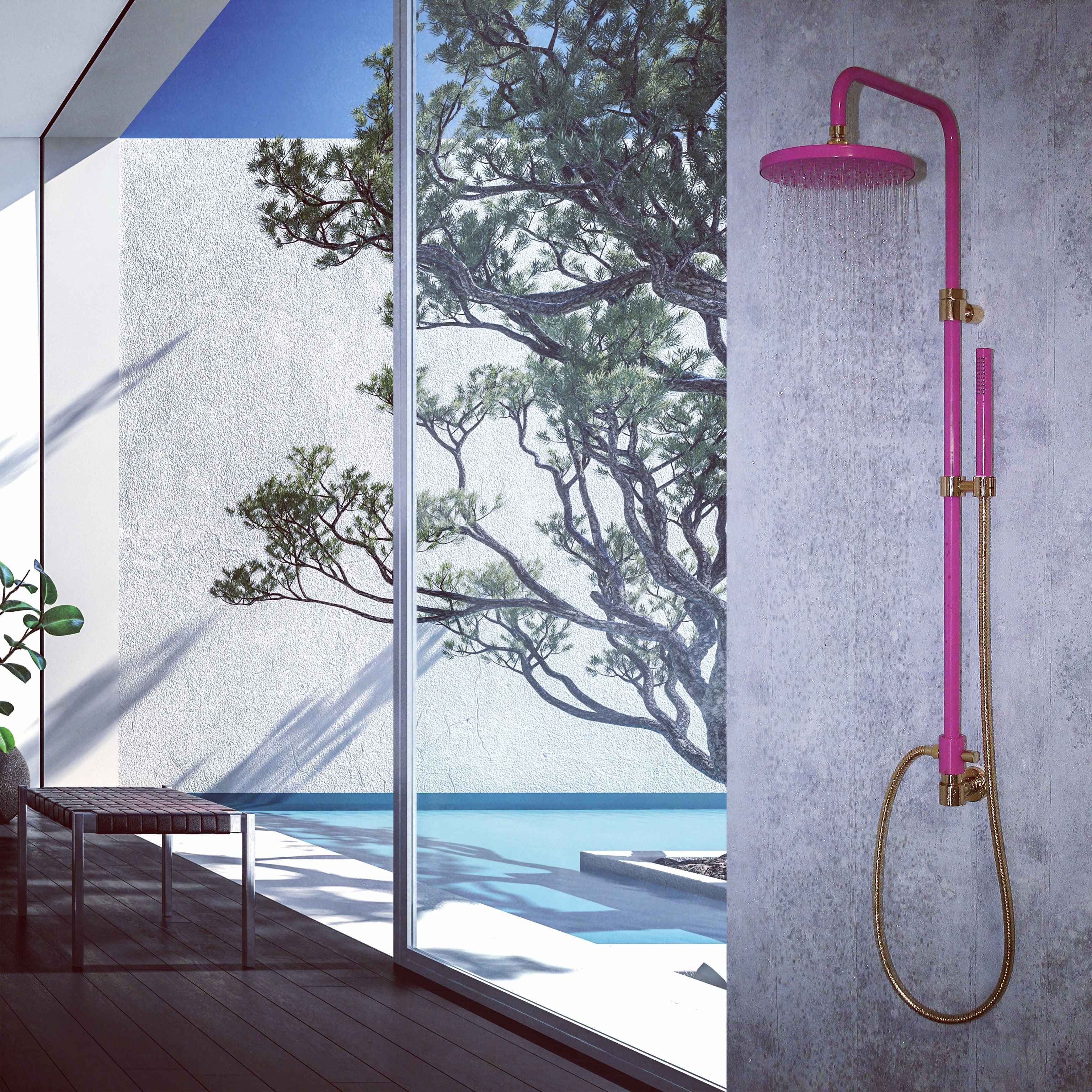 Pink is the new chrome - by VICARIO S.R.L. New complete shower kit ...