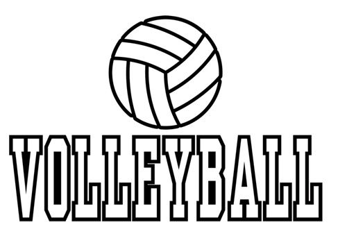 Volleyball Overview Printables Coloring Pages Volleyball