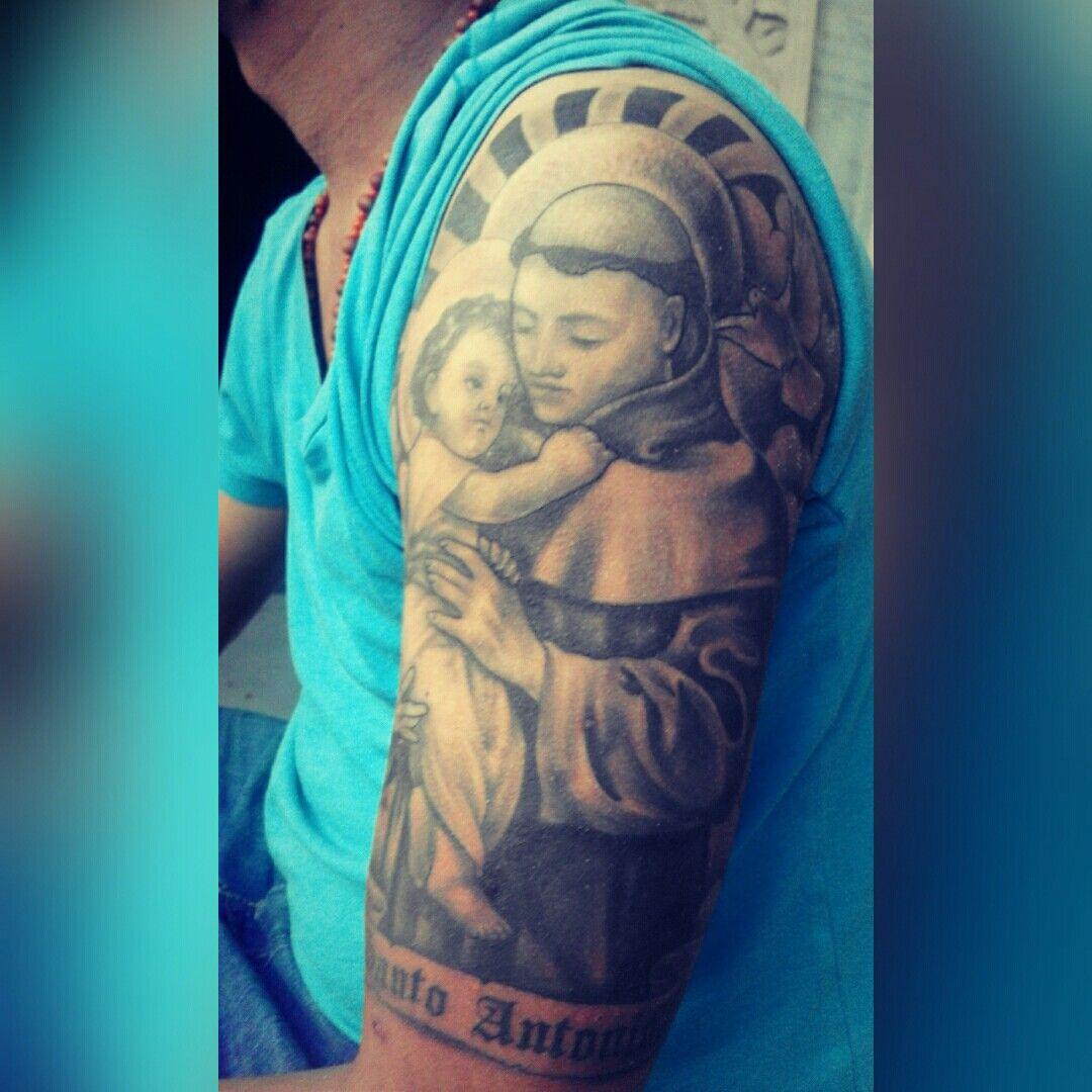 Religi Tattoo Saint Anthony Saint Anthony Tattoo Tattoagem