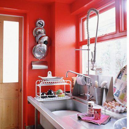 Design Is Mine Isn T It Lovely Interior Inspiration Festive Reds Red Kitchen Red Kitchen Cabinets Orange Kitchen