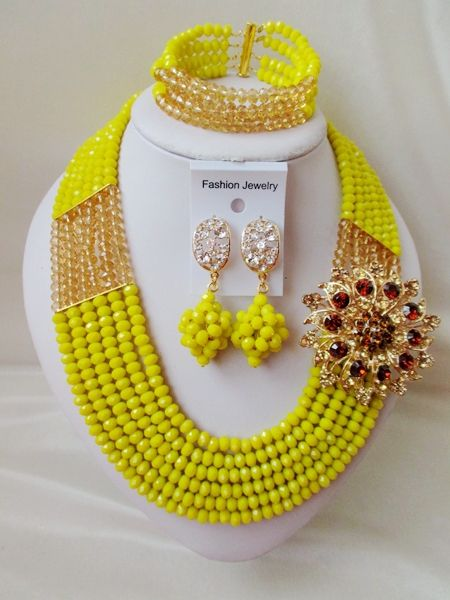 abf44bea2d185 Find More Jewelry Sets Information about 2016 Fashion Opaque Yellow ...
