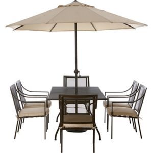 Garden Furniture 6 Seater rimini metal 6 seater garden furniture set - home delivery