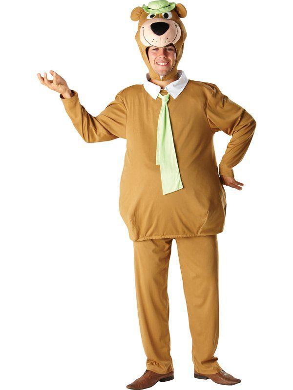 Yogi Bear Cartoon Character Fancy Dress Costume Men S Cartoon