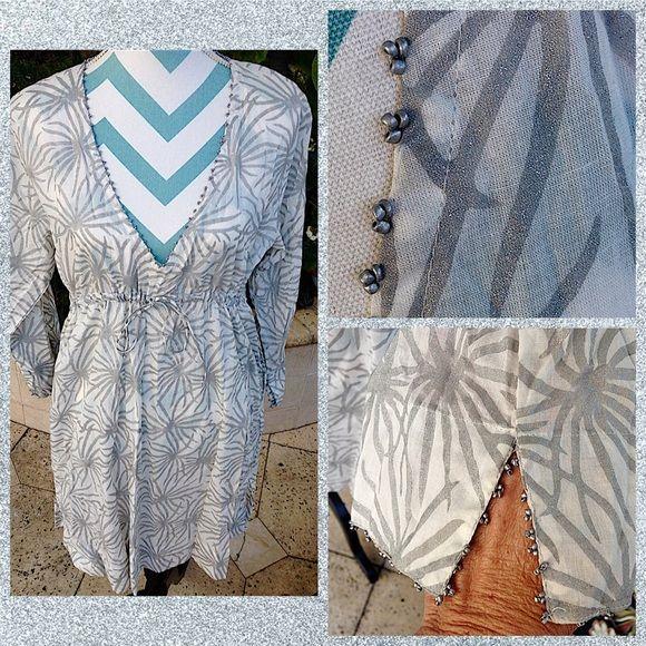 Gretchen Scott XL Vneck Starburst Dress tTunic Clothes