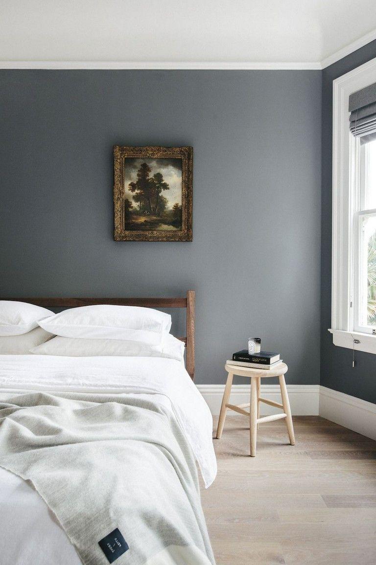 40 Amazing Vintage Bedroom Ideas Decorating Bedroom Wall Colors Home Decor Gray Bedroom Walls Gray bedroom wall paint