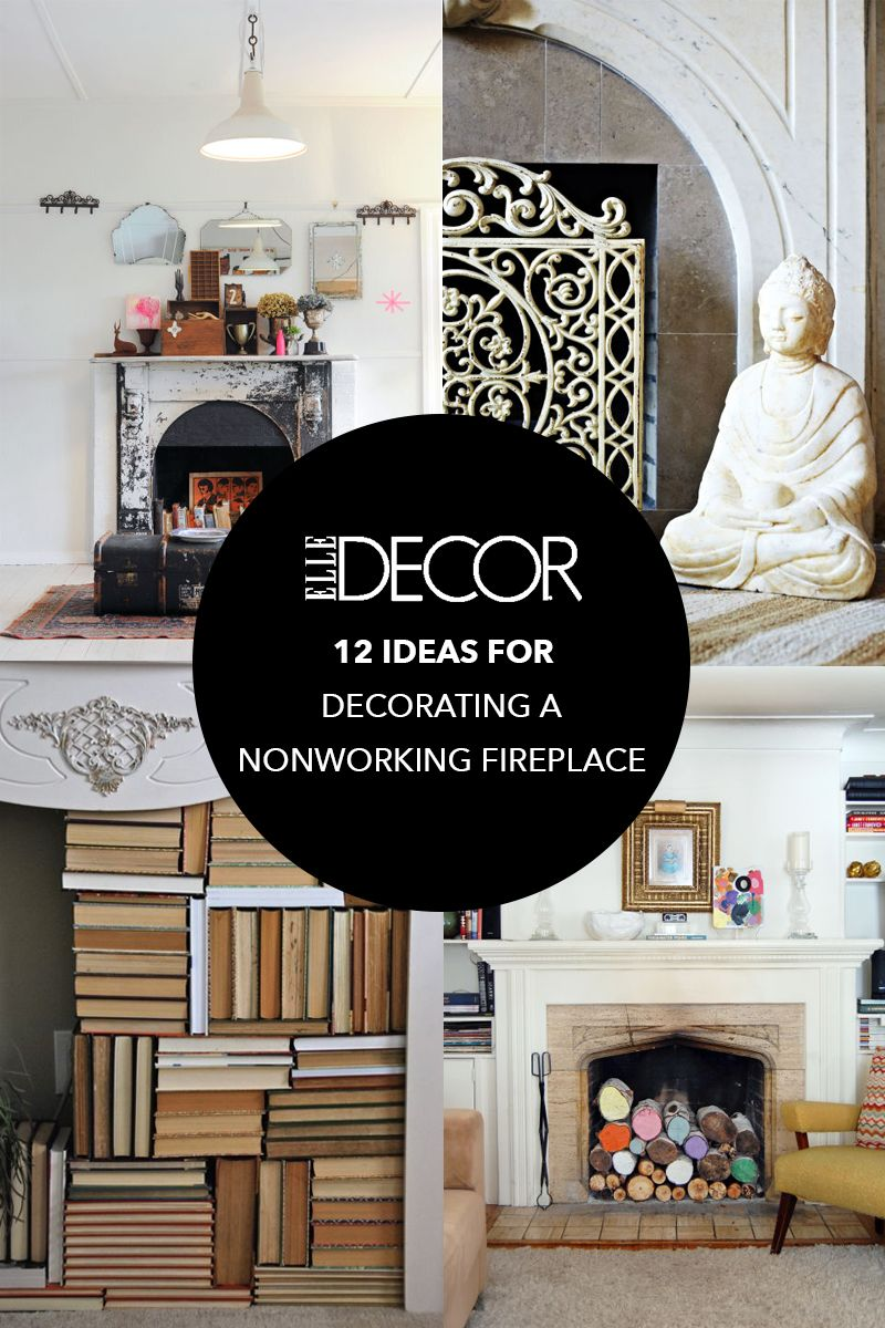 12 Ideas For Decorating A Nonworking Fireplace | Decorating, Mantels ...