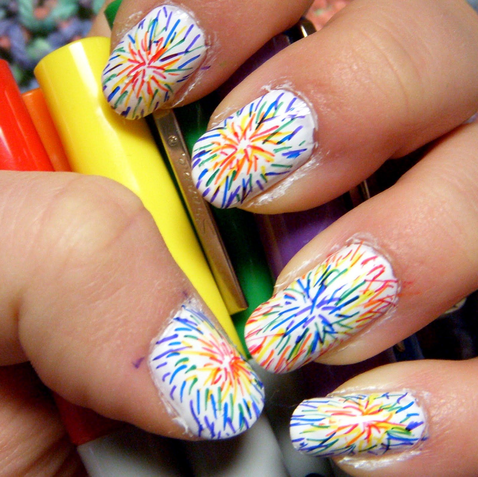 Easy+Do+It+Yourself+Tie+Dye+Nails | Of course it\'s the cheater\'s way ...