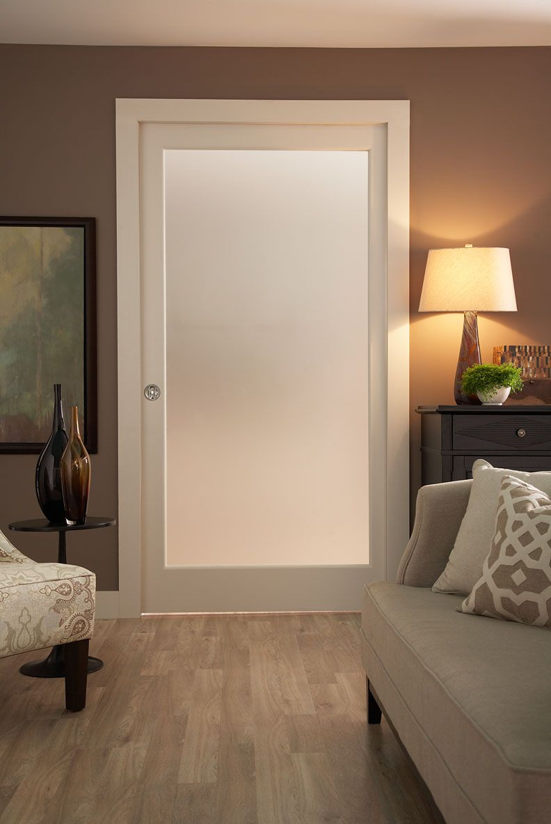Let The Light In With A Frosted Pocket Door You Can Keep The Natural Light In A Room While Creating Pocket Doors Master Bathroom Renovation Pocket Door Frame