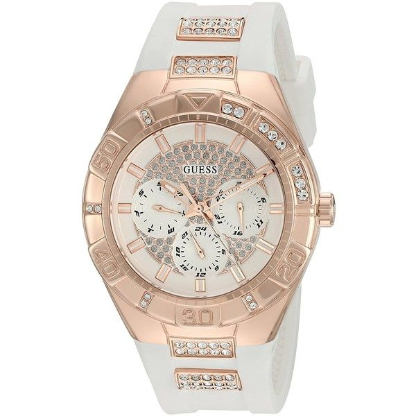 b92ba496 GUESS Women's U0653L4 Sporty Rose Gold-Tone Stainless Steel Watch with...  (645 DKK) ❤ liked on Polyvore featuring jewelry, watches, sporty watches,  ...
