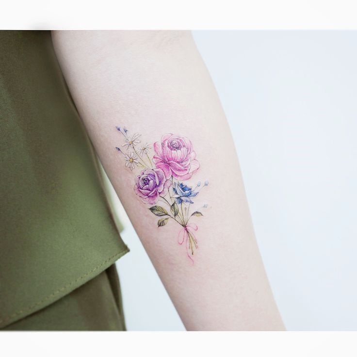 Watercolor Tattoos K Watercolor Tattoos Korean Style Tattoos Floral Tattoo Design Tattoo Designs For Women