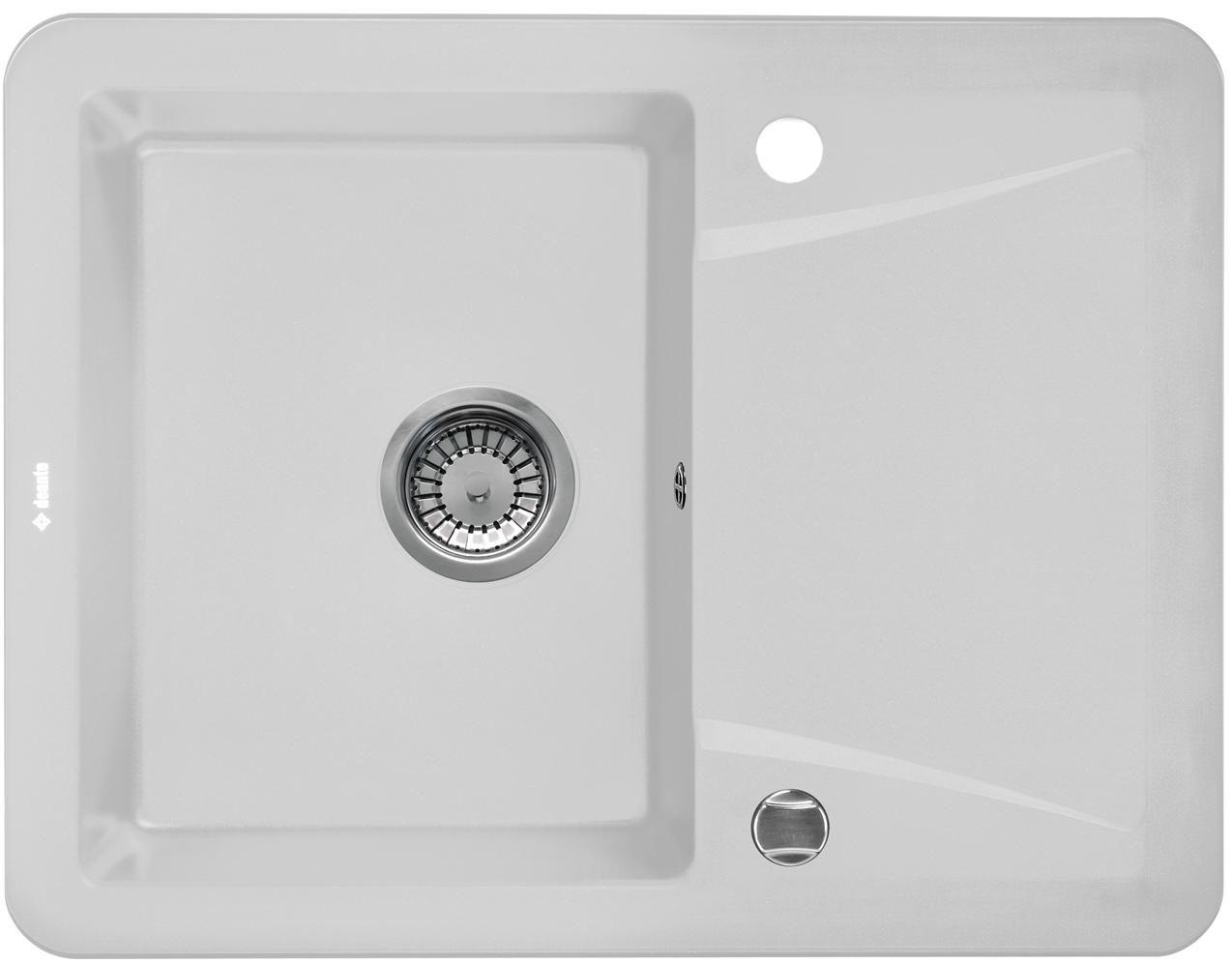 DE-Vivo 1 | Composite sinks, White granite kitchen and Black granite ...