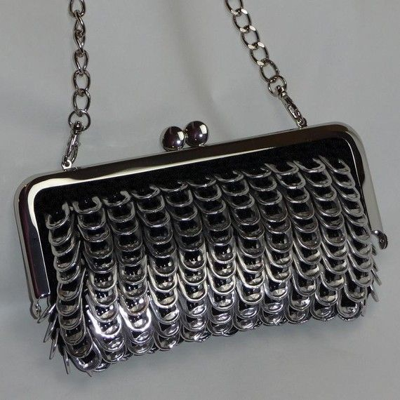 Pop Tab Evening Bag  Midnight by DianeKDesigns on Etsy, $90.00
