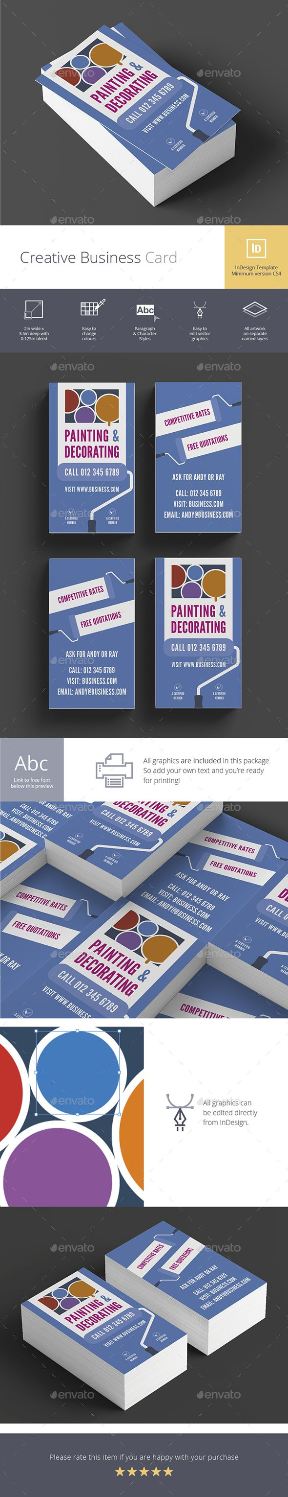 Creative business card no10 pinterest business cards card creative business card design idea template no10 creative business card template indesign indd download here reheart Gallery