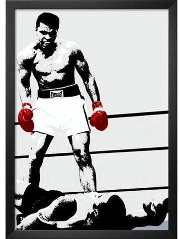 Art.com Muhammad Ali: Gloves Framed Print | Products | Pinterest ...