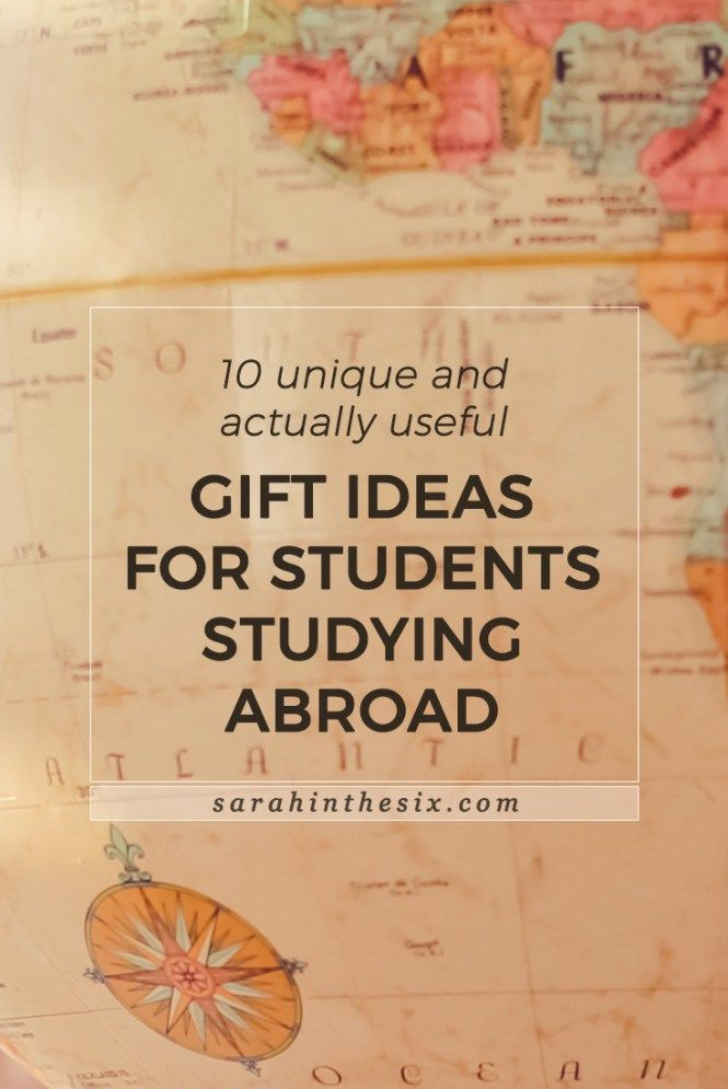 10 Unique And Actually Useful Gift Ideas For Students Studying Abroad Study Abroad Gifts Semester Abroad College Student Travel