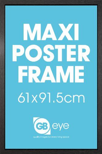 black wooden 61x91 5cm maxi poster frame gb posters http www