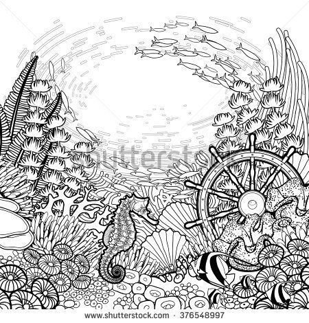 Royalty-Free Vector Clip Art Illustration of a Coloring Page ... | 470x450