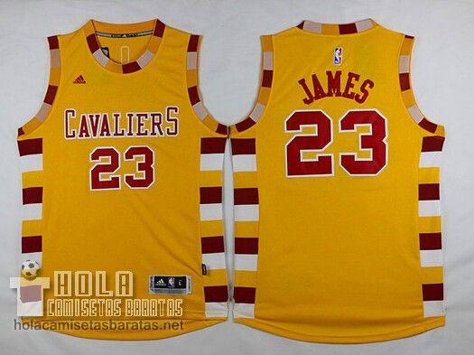 Camiseta Cleveland Cavaliers Los Aficionados Edición Amarillo LeBron James  €22.9