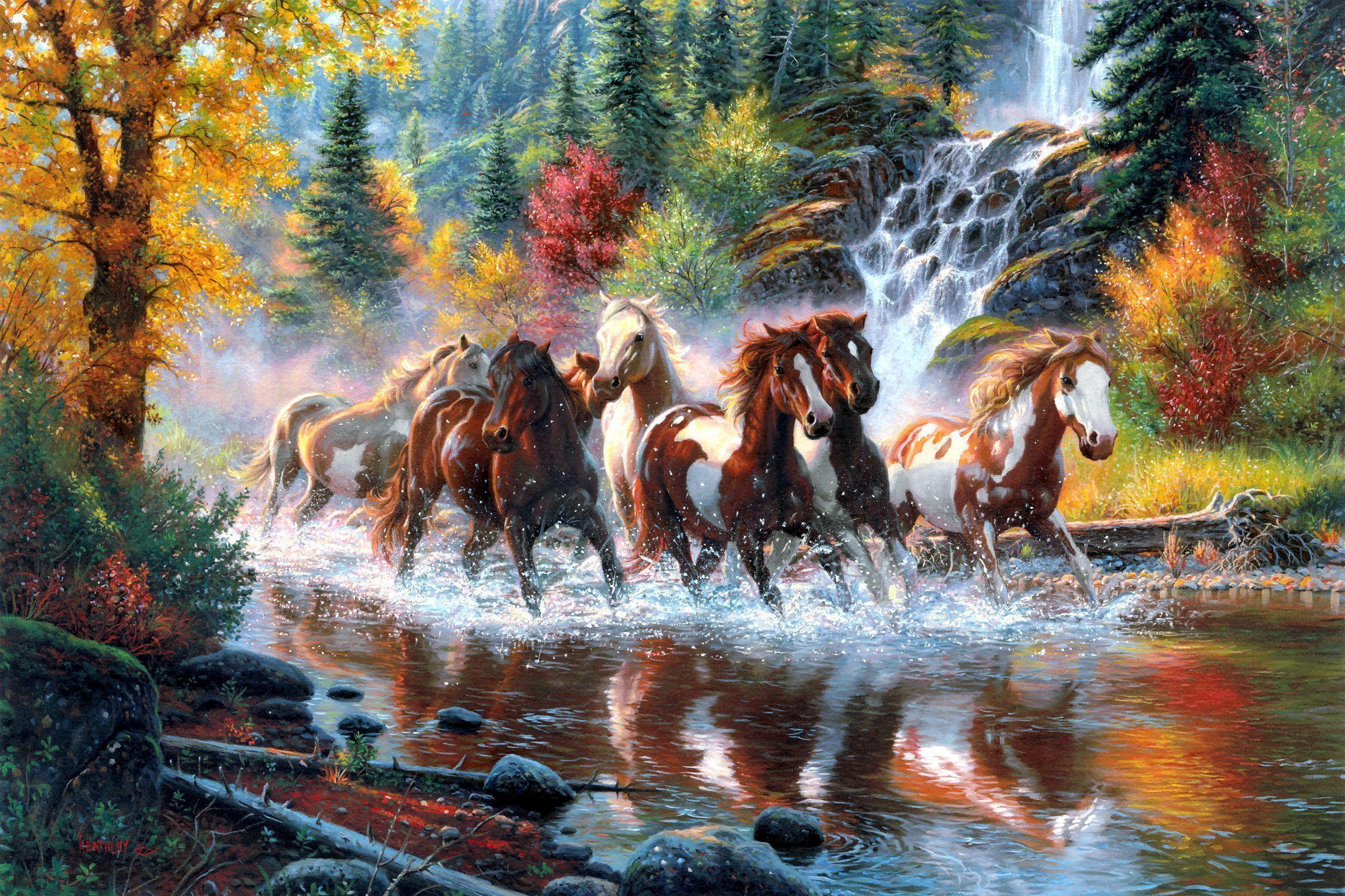 Water Fall In Art