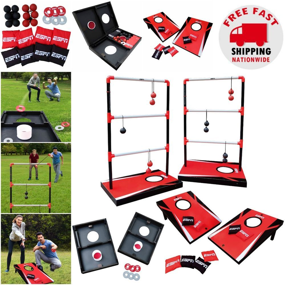 Incredible Cornhole Bean Bag Toss Combo Outdoor Espn Game Set With Gmtry Best Dining Table And Chair Ideas Images Gmtryco